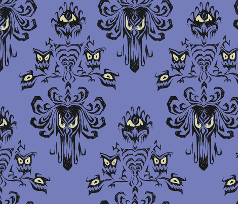 Haunted Mansion in detail fabric by mellymellow on Spoonflower - custom fabric