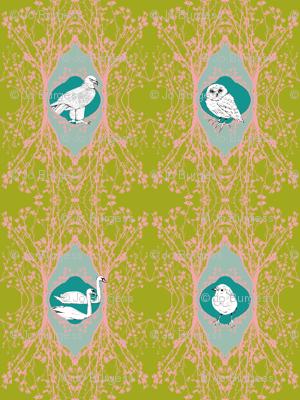 Modern Majestic - Vigilance - Blossom and Birds