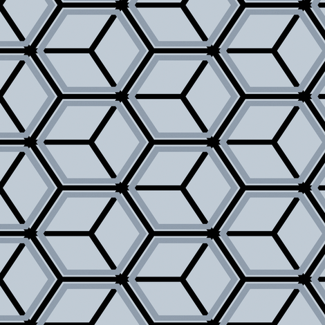 Honeycomb Motif 24 fabric by animotaxis on Spoonflower - custom fabric