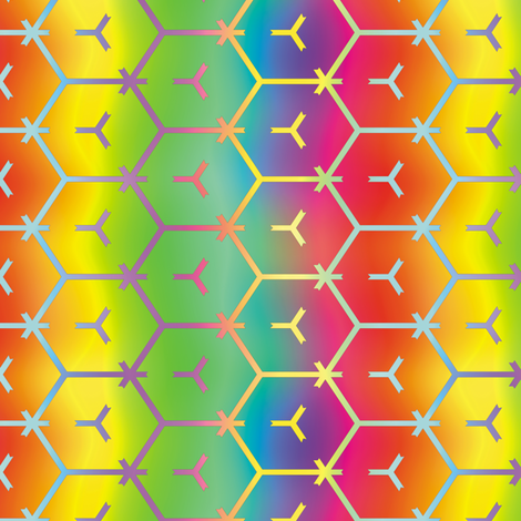 Honeycomb Rainbow 1 fabric by animotaxis on Spoonflower - custom fabric
