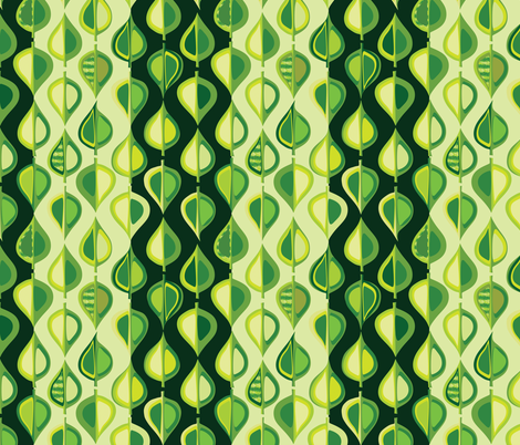 evergreen stripe fabric by bippidiiboppidii on Spoonflower - custom fabric