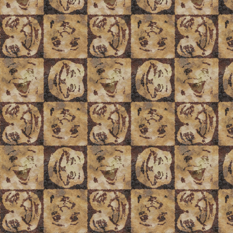 Happy Faces: Caveman Style_small fabric by tallulahdahling on Spoonflower - custom fabric