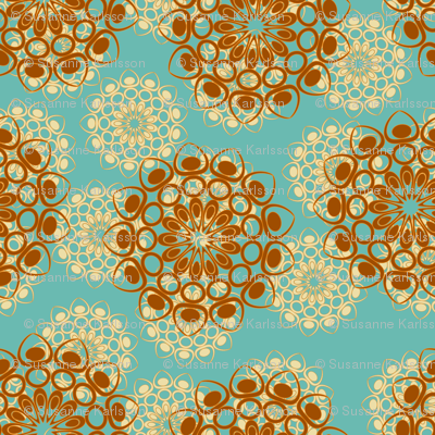 brown and beige flowers