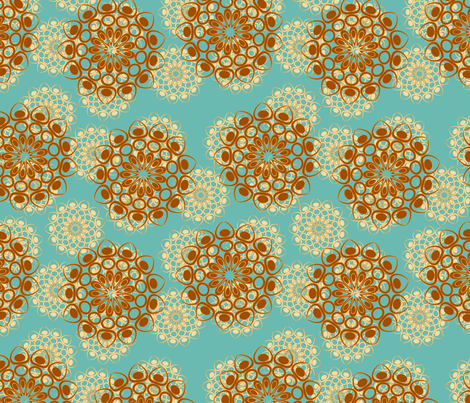 brown and beige flowers fabric by suziedesign on Spoonflower - custom fabric