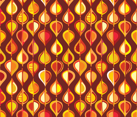 Ever-autumn (brown) fabric by bippidiiboppidii on Spoonflower - custom fabric