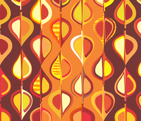 Ever-autumn (stripe) fabric by bippidiiboppidii on Spoonflower - custom fabric