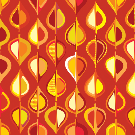 ever-autumn (red/brown) fabric by bippidiiboppidii on Spoonflower - custom fabric