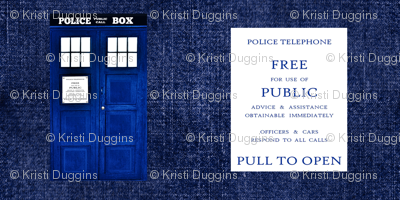 "Doctor Who Inspired TARDIS on ""Denim"""