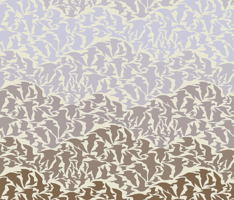 Flight of Pigeons (brown) fabric by ceanirminger on Spoonflower - custom fabric