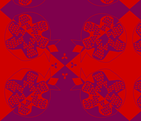 Batik_Pomegranate fabric by carmengirl on Spoonflower - custom fabric