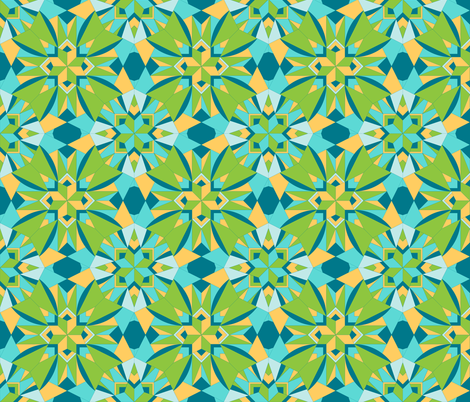 Charlotte Jane in a Fresh Seabreeze fabric by rhondadesigns on Spoonflower - custom fabric