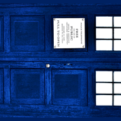Doctor Who Inspired Blue Police Box Design