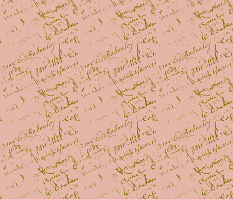 French Script Country Peach fabric by karenharveycox on Spoonflower - custom fabric