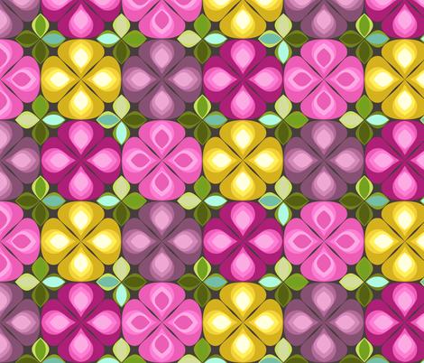 gouttelette flowers chocca fabric by scrummy on Spoonflower - custom fabric