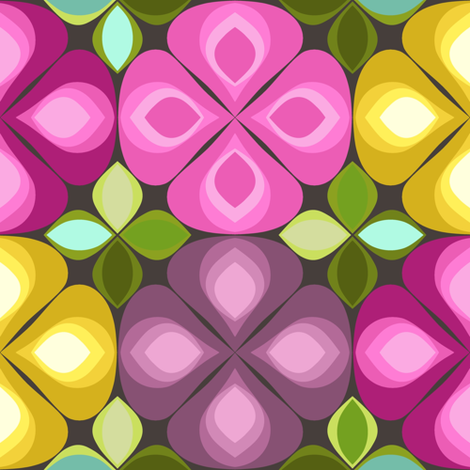 gouttelette flowers chocca fabric by scrummy on Spoonflower - custom fabric