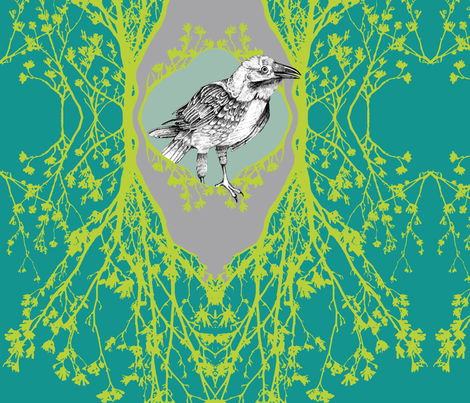 Modern Majestic - Flight - Blossom and Birds fabric by uzumakijo on Spoonflower - custom fabric