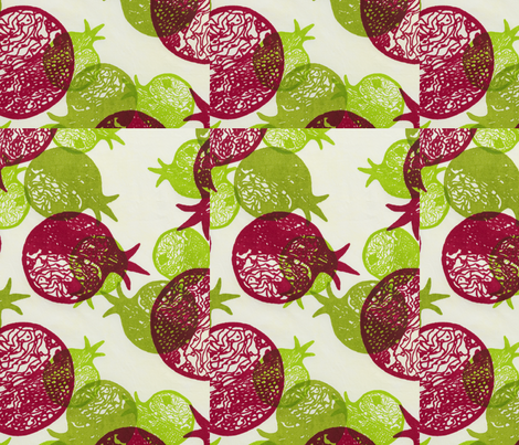 02_Stechschulte_Pomegrantes fabric by cathystechschulte on Spoonflower - custom fabric