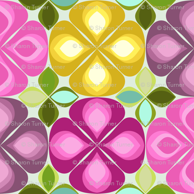 gouttelette flowers pale aqua