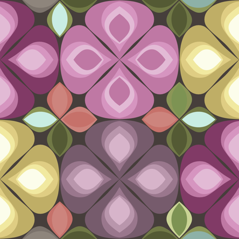 gouttelette fall flowers fabric by scrummy on Spoonflower - custom fabric