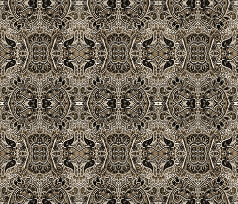 Paisley Goes Goth fabric by whimzwhirled on Spoonflower - custom fabric