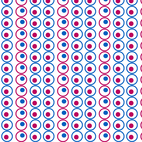 Retro dot on white fabric by momofour09 on Spoonflower - custom fabric