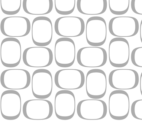 Gray Ovals fabric by bbsforbabies on Spoonflower - custom fabric