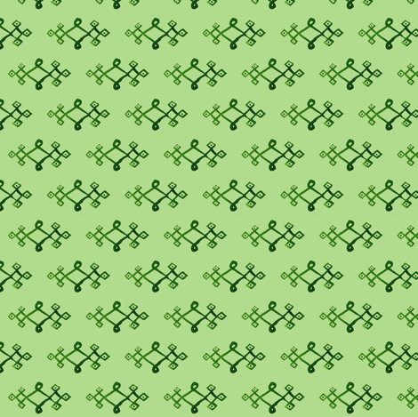cestlaviv_mystical knot greengreen fabric by cest_la_viv on Spoonflower - custom fabric