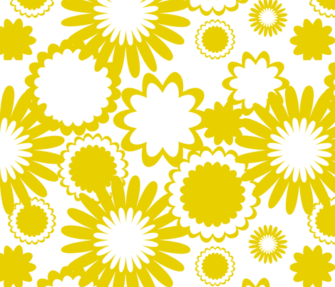 Golden Rod Flowers fabric by bbsforbabies on Spoonflower - custom fabric