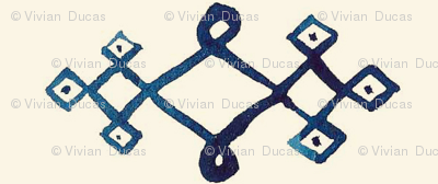 cestlaviv_diamond mystical knot [ blue on gold]