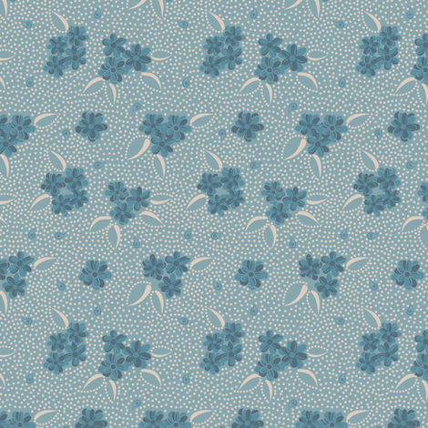 Flower Paisley Dot blue fabric by modernprintcraft on Spoonflower - custom fabric