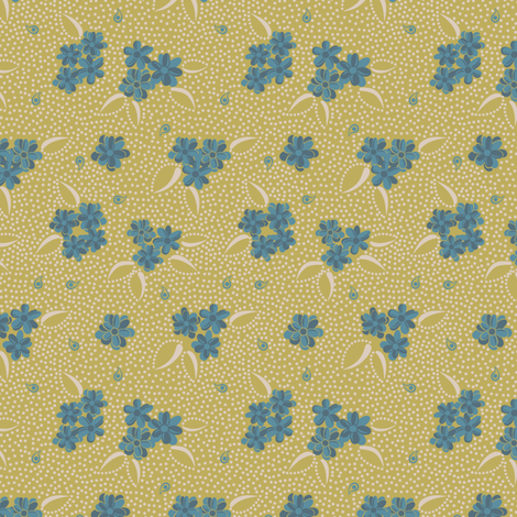 Flower Paisley Dot green fabric by modernprintcraft on Spoonflower - custom fabric