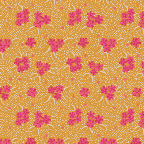 Flower Paisley Dot yellow fabric by modernprintcraft on Spoonflower - custom fabric