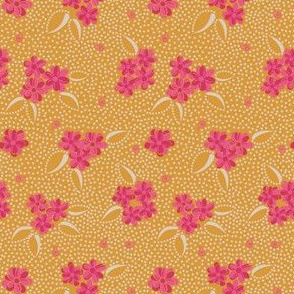 Flower Paisley Dot yellow