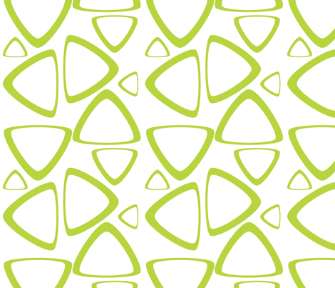 Apple Green Triangles fabric by bbsforbabies on Spoonflower - custom fabric