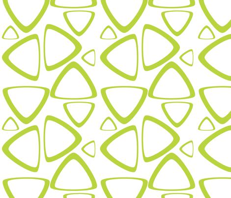 Apple Green Triangles fabric by bbsforbabies on Spoonflower - custom fabric