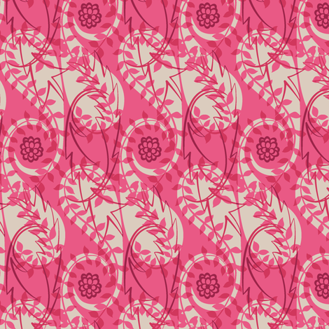 Paisley Block Print pinks fabric by modernprintcraft on Spoonflower - custom fabric