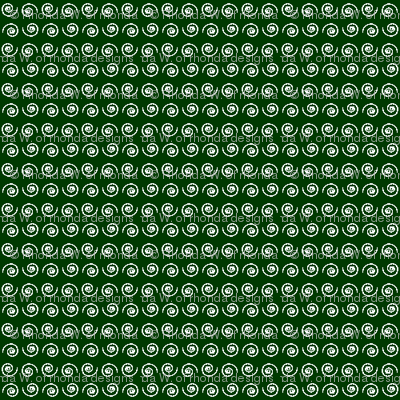 Snail on Dark Forest Green