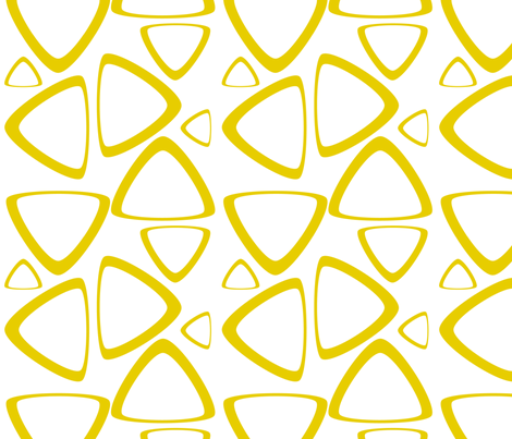 Golden Rod Triangles fabric by bbsforbabies on Spoonflower - custom fabric