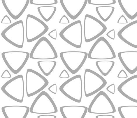 Gray Triangles fabric by bbsforbabies on Spoonflower - custom fabric