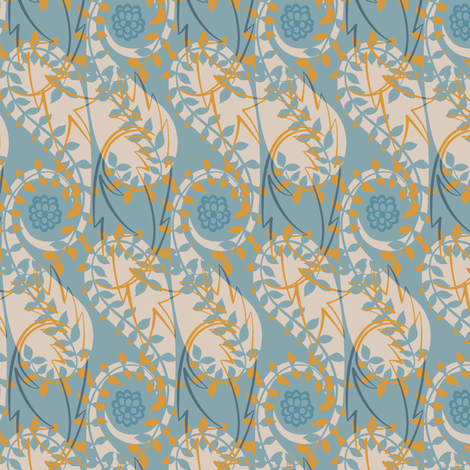 Paisley Block Print blues fabric by modernprintcraft on Spoonflower - custom fabric