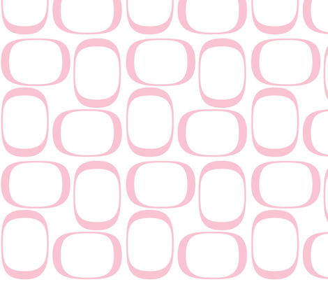 Pink Ovals fabric by bbsforbabies on Spoonflower - custom fabric
