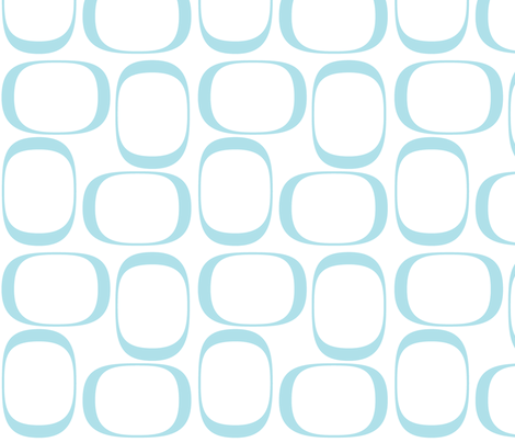 Turquoise Ovals fabric by bbsforbabies on Spoonflower - custom fabric