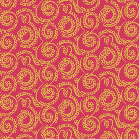 Paisely Bubbles rose-gold fabric by modernprintcraft on Spoonflower - custom fabric