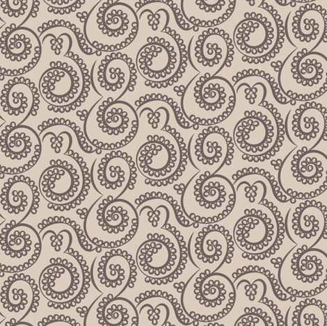 Paisley Bubbles neutrals fabric by modernprintcraft on Spoonflower - custom fabric