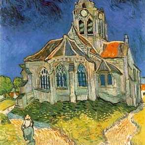 Van Gogh - The Church at Auvers (1890)