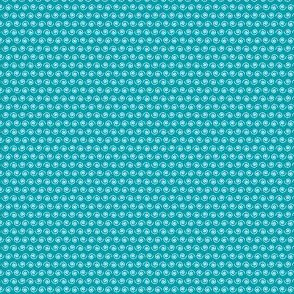 Snail on Teal.