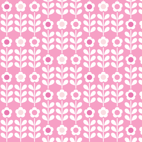 Pink Multi Flower fabric by mondaland on Spoonflower - custom fabric
