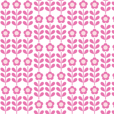 Pink Flower fabric by mondaland on Spoonflower - custom fabric