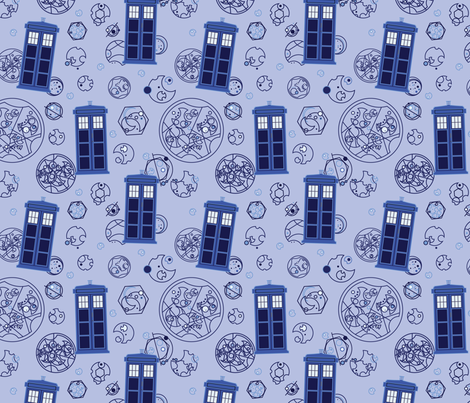 Madman in a Blue Box fabric by studiofibonacci on Spoonflower - custom fabric