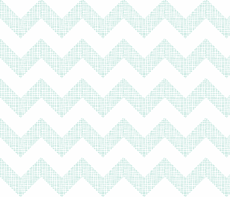Chevron Sketch Minty fabric by honey&fitz on Spoonflower - custom fabric